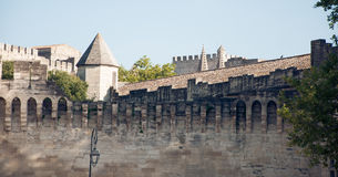 City walls of Avignon, France. Reminding of castles and fairy tales Stock Images