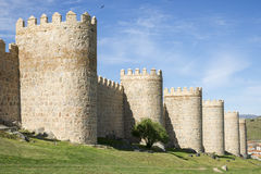 City Walls of Avila (Spain) Royalty Free Stock Photography