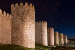 City Walls of Avila (Spain) Stock Images