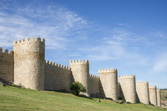 City Walls of Avila (Spain) Royalty Free Stock Photos