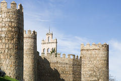 City Walls of Avila (Spain) Royalty Free Stock Images