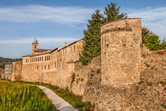 City walls of Bevagna, Umbtia, Italy Stock Images