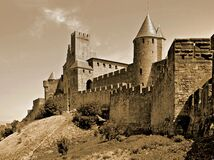 City Walls of Carcassonne Stock Photography