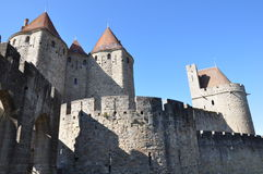 City Walls, Carcassonne, France Stock Images