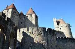 City Walls, Carcassonne, France Royalty Free Stock Image