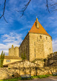 City walls of Carcassonne - France Royalty Free Stock Photo