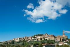 The city walls of Castiglion Fiorentino in Tuscany Royalty Free Stock Photos