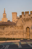 City Walls, Cathedral and Palais des Papes Palace; Avignon Stock Photos