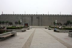 City Walls China. A view along the city walls in Xi` An, China Stock Photography