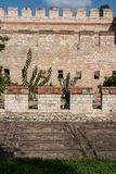 City walls of Constantinople in Istanbul, Turkey. The ancient city walls of Constantinople in Istanbul, Turkey royalty free stock photography