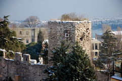 The city walls of Constantinople Royalty Free Stock Photos