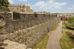 Bastion and city walls. Derry Londonderry. Northern Ireland. United Kingdom. City walls. Derry Londonderry. Northern Ireland. United Kingdom Royalty Free Stock Photos