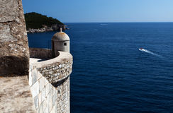 City walls in Dubrovnik Royalty Free Stock Photography