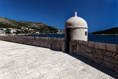 City walls in Dubrovnik Royalty Free Stock Image