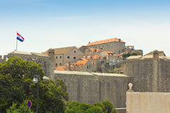The city walls of Dubrovnik, Croatia Stock Photography