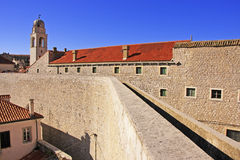 City walls of Dubrovnik Stock Photos