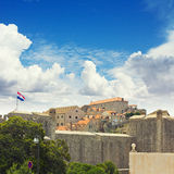 The city walls of Dubrovnik, Croatia. OldTown Royalty Free Stock Photo