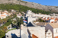 City walls of Dubrovnik, Croatia. UNESCO site Stock Images