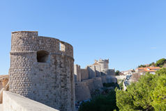 City walls of Dubrovnik, Croatia. UNESCO site Royalty Free Stock Photo