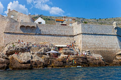 City Walls of Dubrovnik Royalty Free Stock Photo