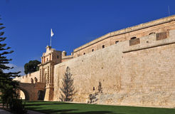 City walls and gate at Mdina, Malta 3 Royalty Free Stock Image