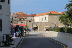 City walls and gates of the town of Primosten, Croatia Royalty Free Stock Photo