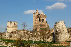 City Walls of Istanbul Stock Images