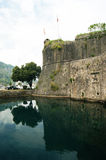 The city walls of Kotor. A fragment of the fortress walls of Kotor (Montenegro Royalty Free Stock Photography