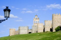 City Walls and Lamp Royalty Free Stock Photography