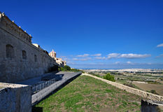 City walls at Mdina, Malta 1 Royalty Free Stock Photo
