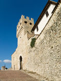 City walls, MonteFalco, Umbria Royalty Free Stock Photography