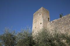 City Walls; Monteriggioni Village, Tuscany Royalty Free Stock Images