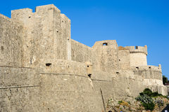 The city walls of old town at Dubrovnik Royalty Free Stock Images