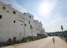 City Walls of Ostuni, Puglia, Italy Stock Photo