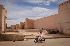 City walls. Ramparts at Bab Khemis. Marrakesh. Morocco Stock Images