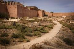 City walls. Ramparts and graveyard. Marrakesh. Morocco Stock Photos