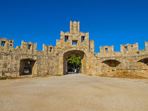City walls in Rhodes town Stock Photography
