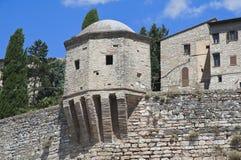 City walls. Spello. Umbria. Stock Images