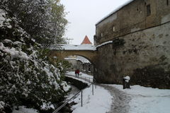 City walls Strada Dupa Ziduri in Brasov Stock Photography