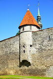 City walls of Tallin Royalty Free Stock Photography