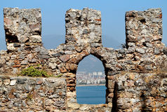 City walls in Turkey Stock Photography