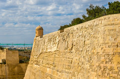 The city walls of Valletta. Malta Stock Image