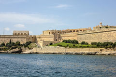 The city walls of Valletta with old castle. Malta Stock Images