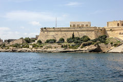 The city walls of Valletta with old castle. Malta Stock Photos