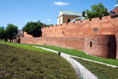 The city walls of Warsaw. The city walls of old Warsaw Royalty Free Stock Image