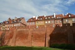 City walls of Warsaw. Around Old Town Stare Miasto , Poland stock image