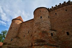 Barbicon of Warsaw. City walls of Warsaw around Old Town Stare Miasto , Poland stock images