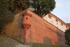 City Walls, Wawel Hill; Krakow Stock Images