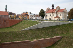 City Walls in Zamosc. Stock Photo