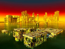 City after war. City after the war is over Stock Image